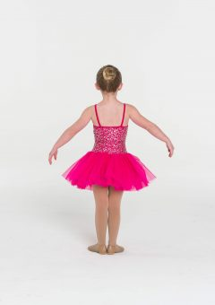 sequin tutu dress fuchsia