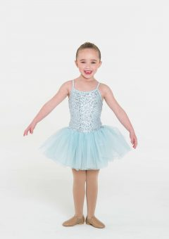 sequin tutu dress pale blue