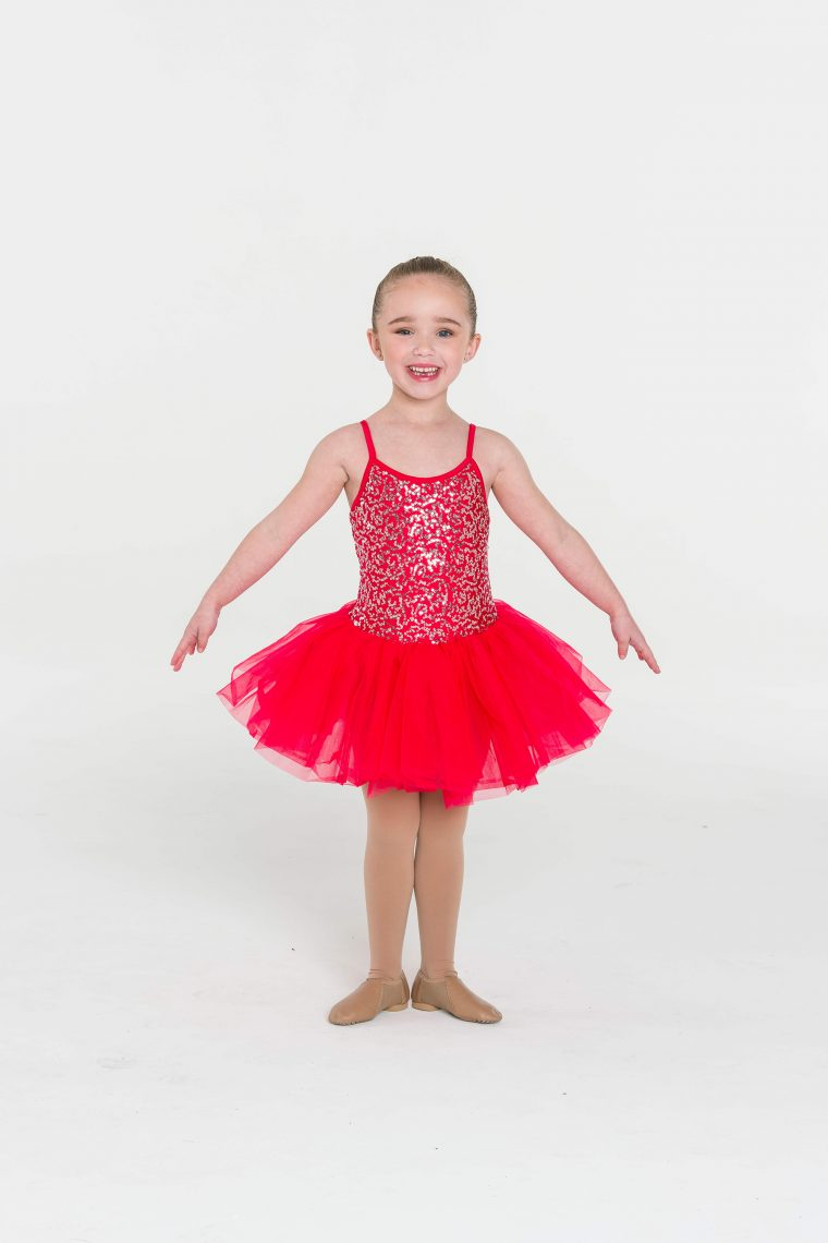 sequin tutu dress red