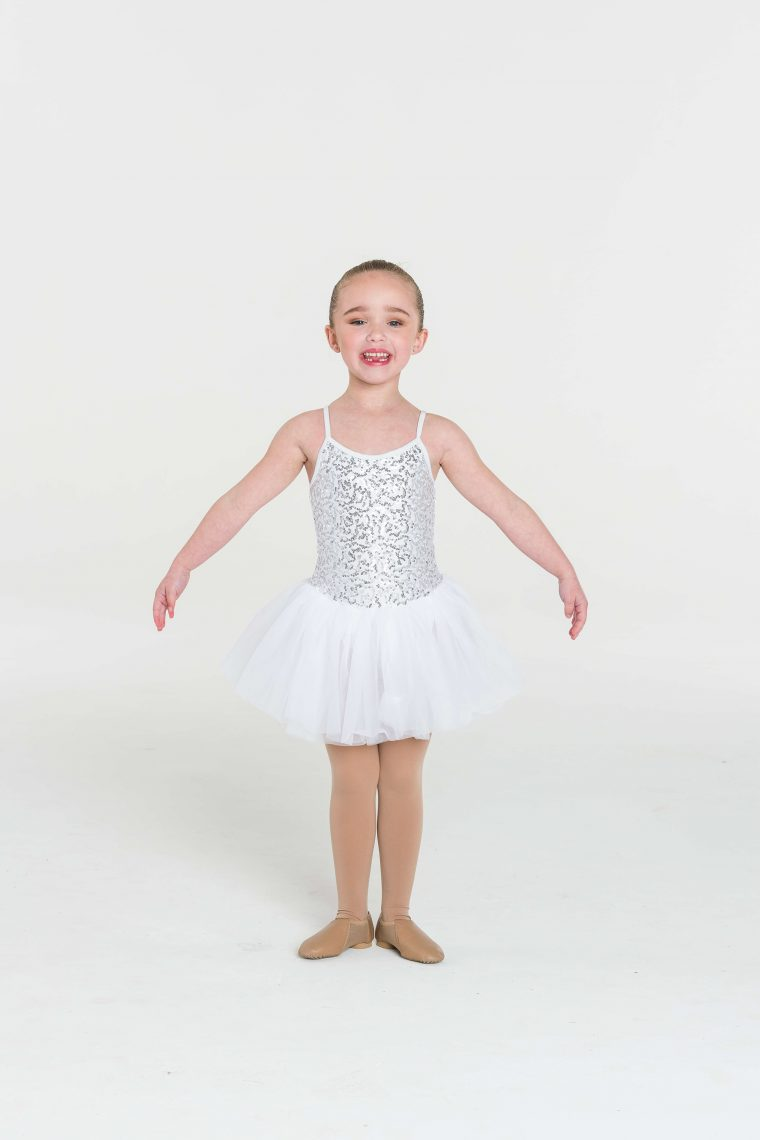 sequin tutu dress white