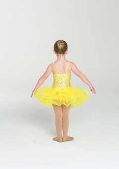 sequin tutu dress yellow