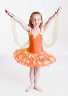 butterfly magic tutu orange