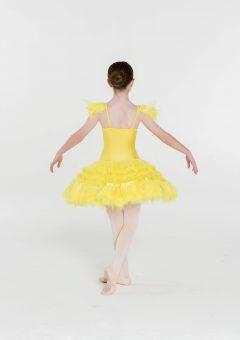 feather frills tutu yellow