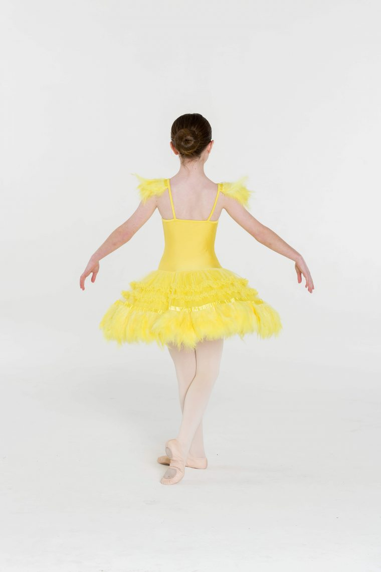 feather frills tutu yellow