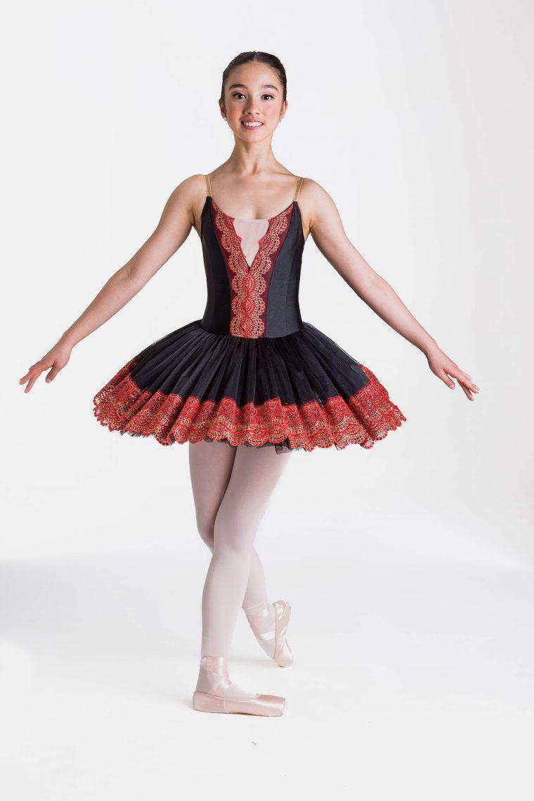 royal tutu black red