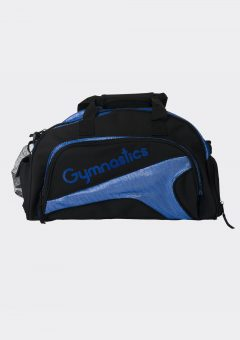 junior duffel bag royal blue gymnastics