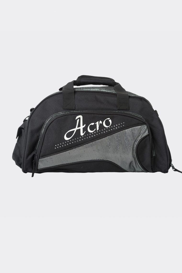 junior duffel bag metallic silver acro