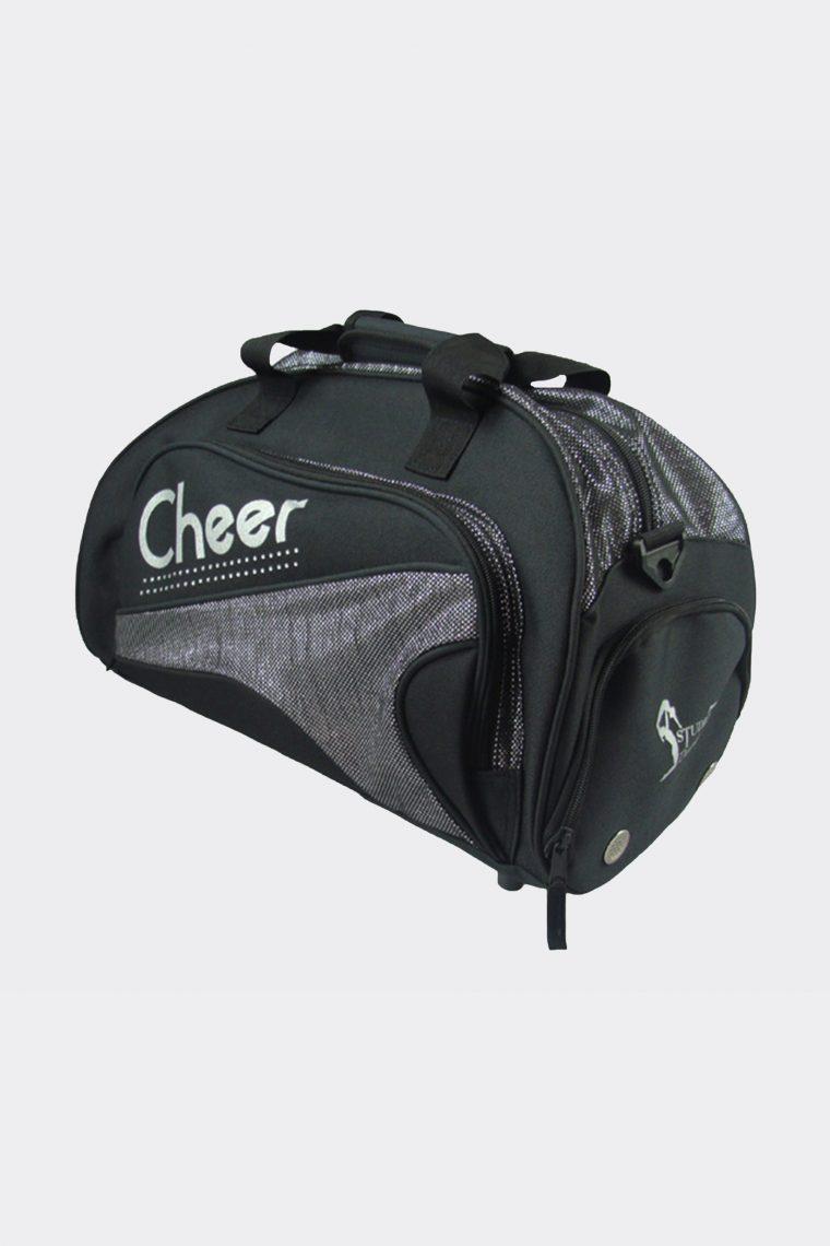 junior duffel bag metallic silver cheer