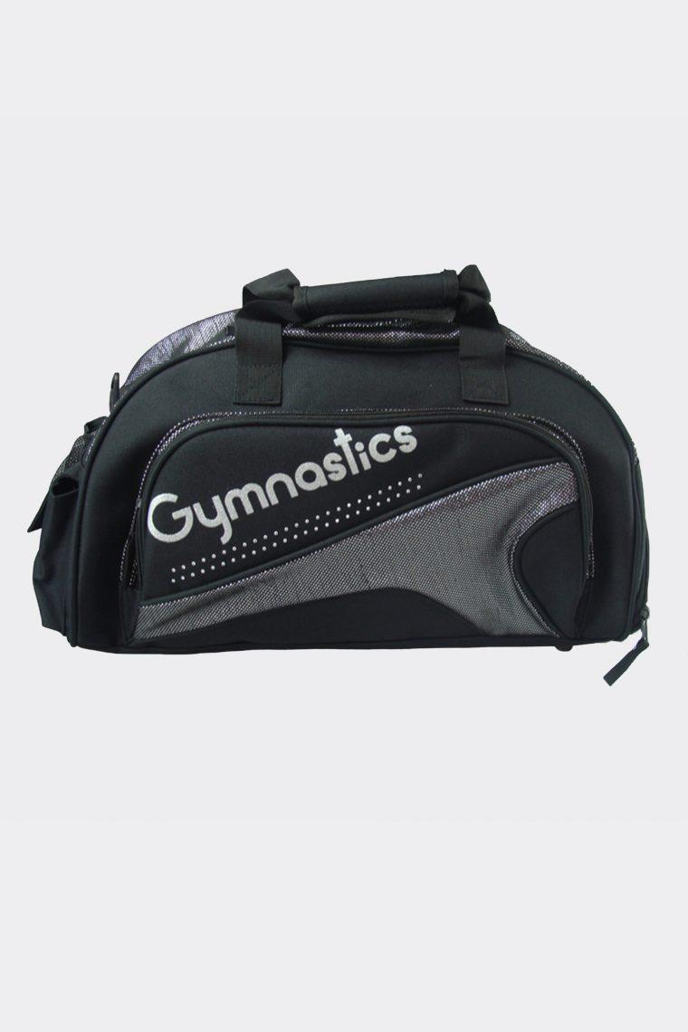 junior duffel bag metallic silver gymnastics