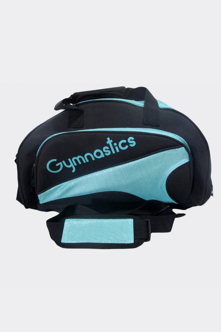 junior duffel bag turquoise gymnastics
