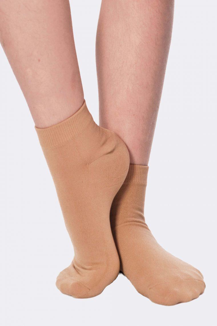 dance socks tan