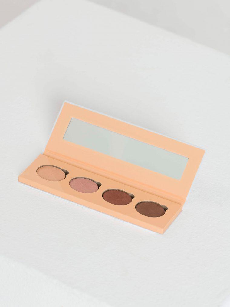 mineral eyeshadow palette brown tones