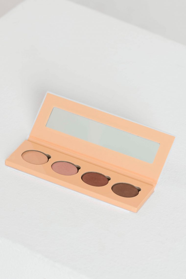 mineral eyeshadow palette brown tones