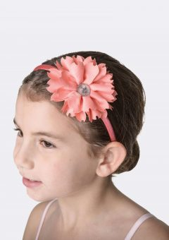 flower jewel headband coral