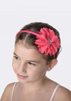 flower jewel headband fuchsia