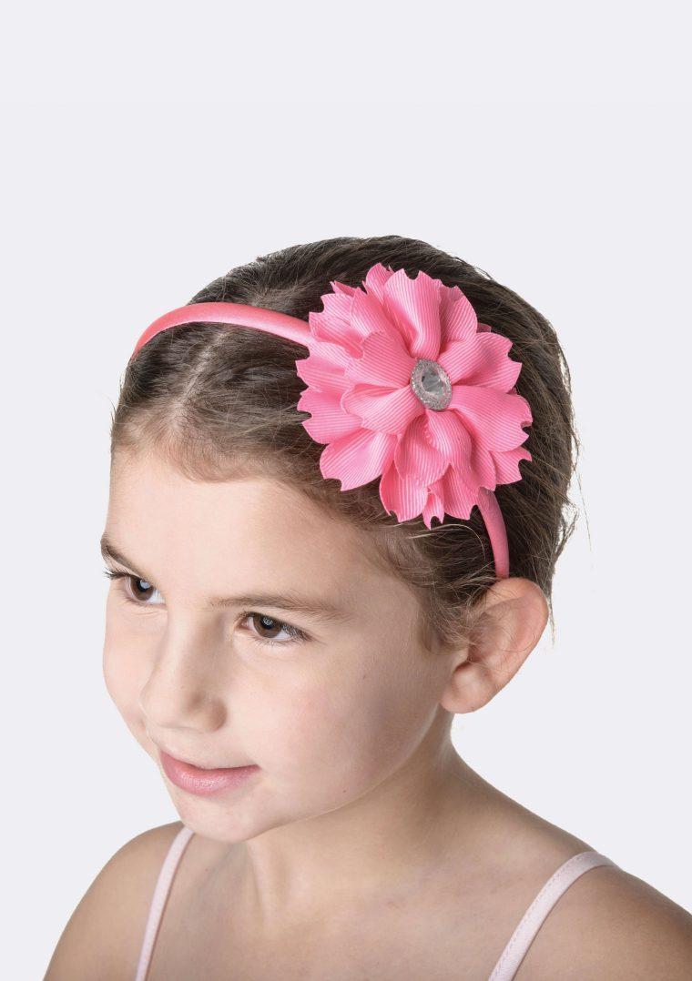 flower jewel headband hot pink