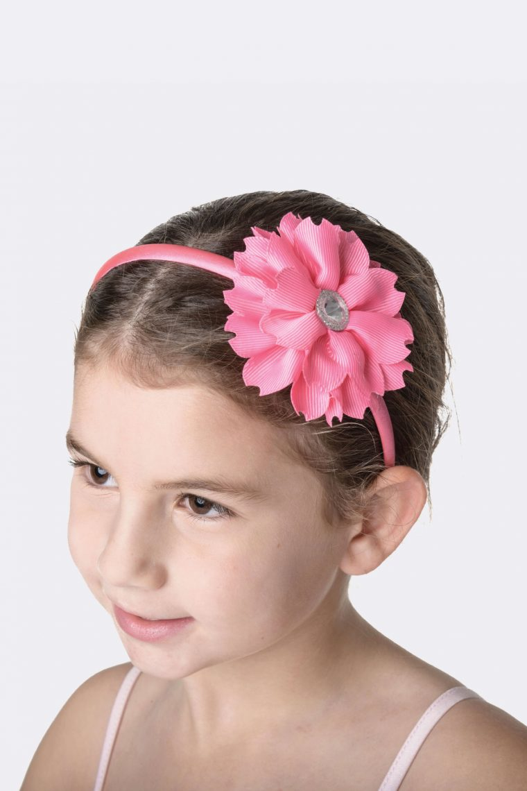 flower jewel headband hot pink