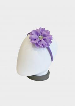 flower jewel headband lilac