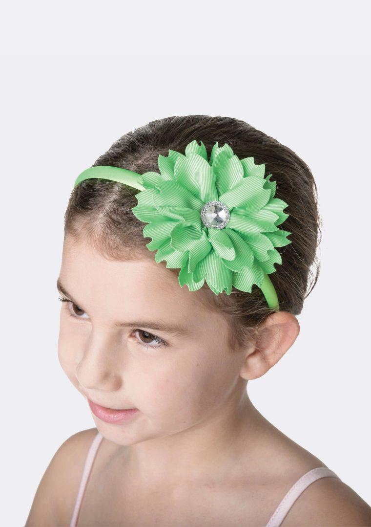 flower jewel headband lime