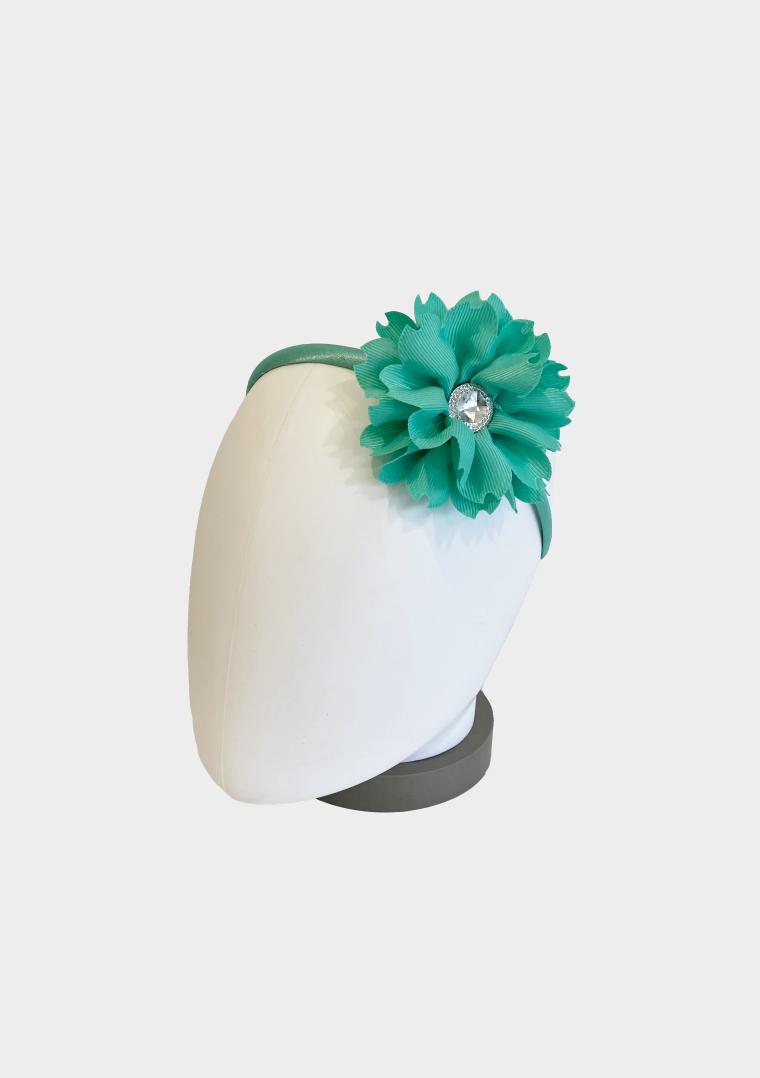 flower jewel headband mint