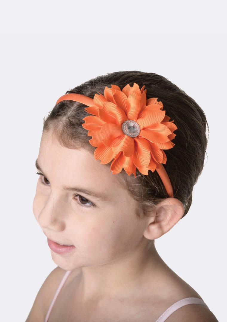 flower jewel headband orange