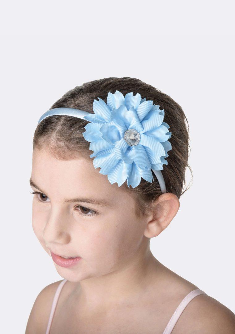 flower jewel headband pale blue