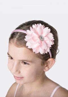flower jewel headband pale pink