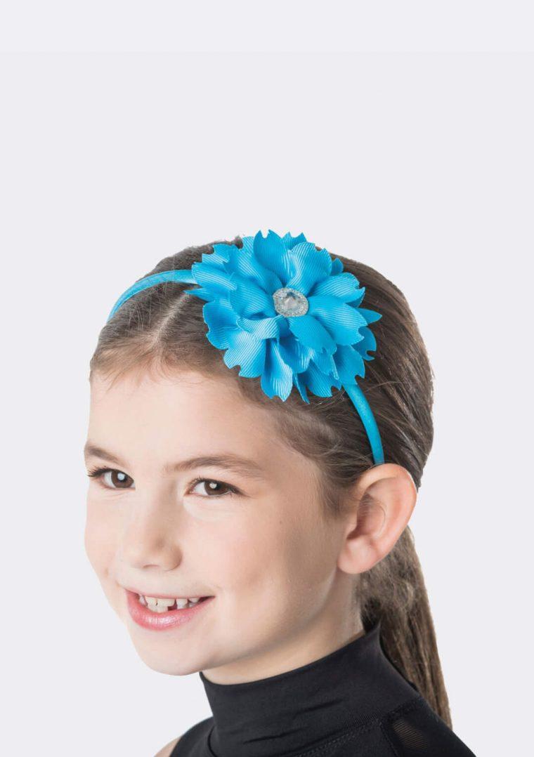flower jewel headband turquoise