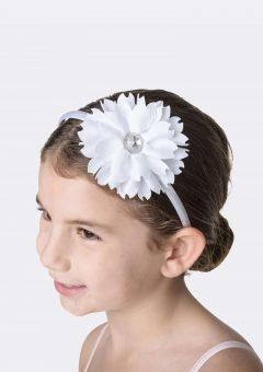 flower jewel headband white