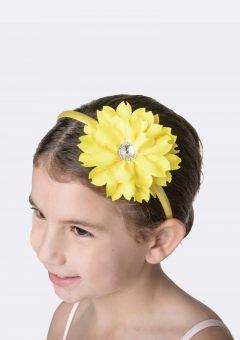 flower jewel headband yellow
