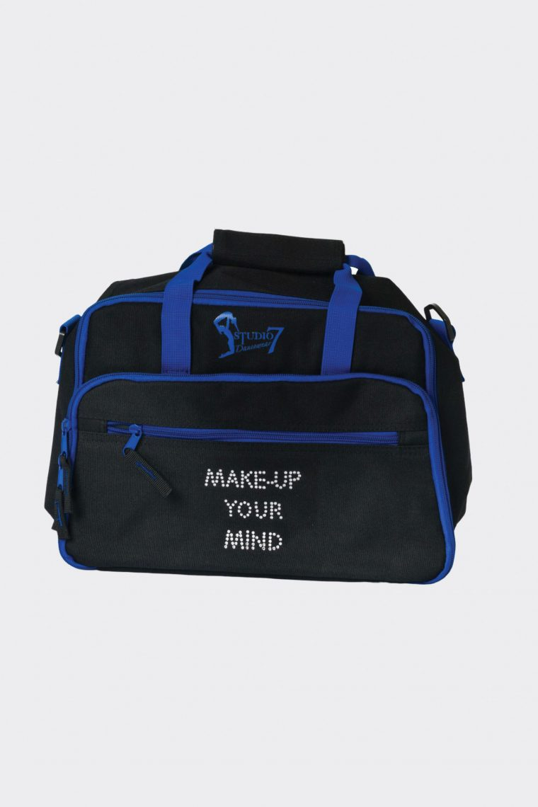senior makeup bag royal blue