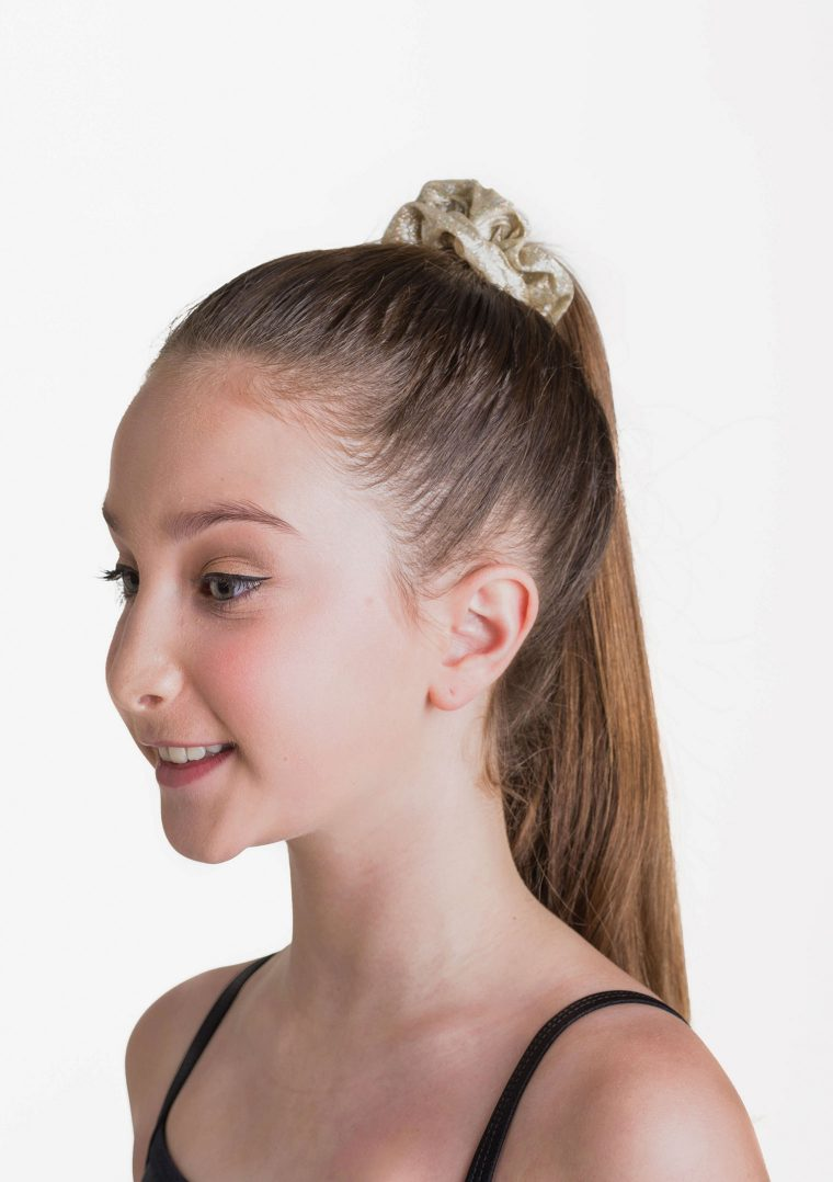 metallic scrunchie gold