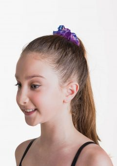 metallic scrunchie purple