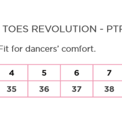 pro toes revolution sizing chart