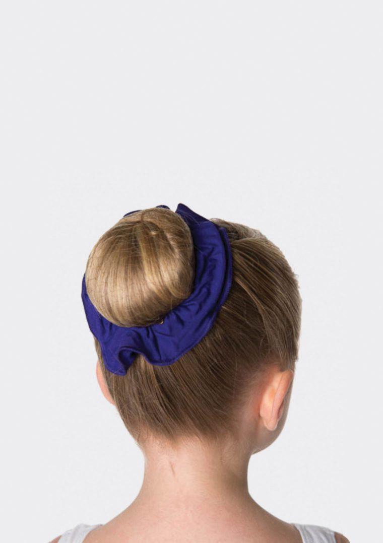 tactel scrunchie dark purple