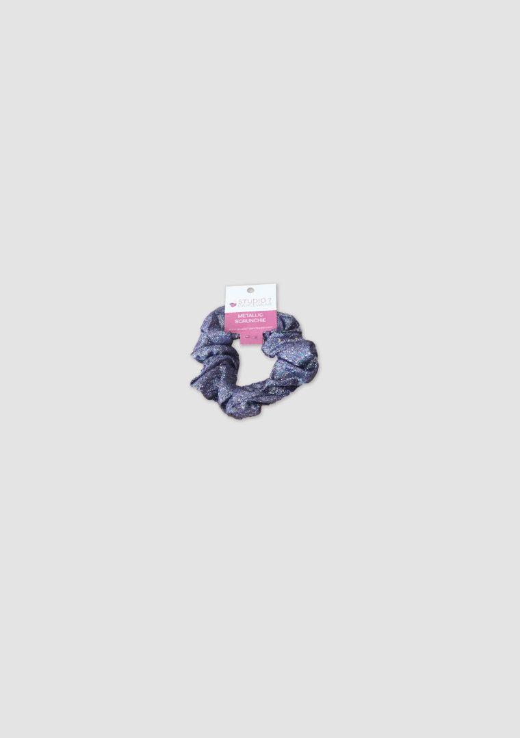 metallic scrunchie lilac