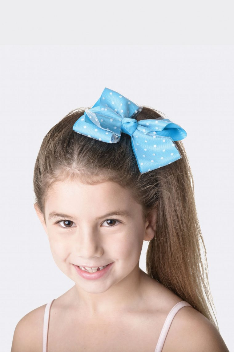 spotty bow clip turquoise