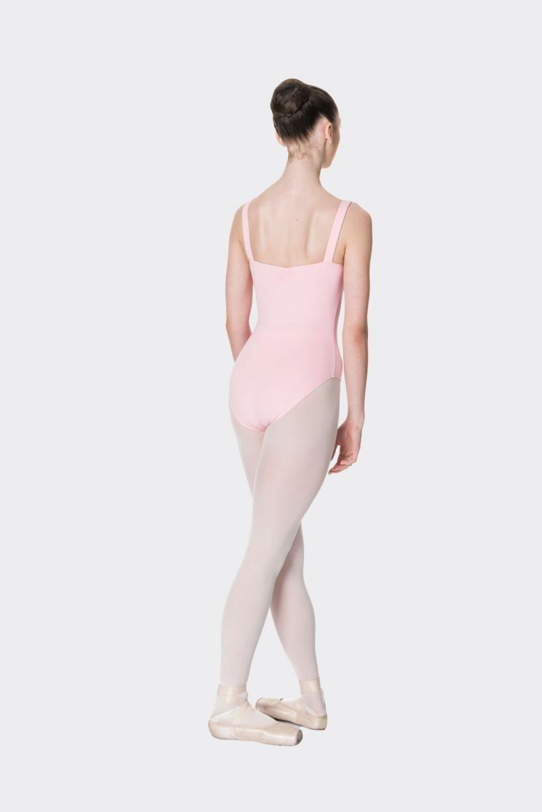 wide strap leotard ballet pink
