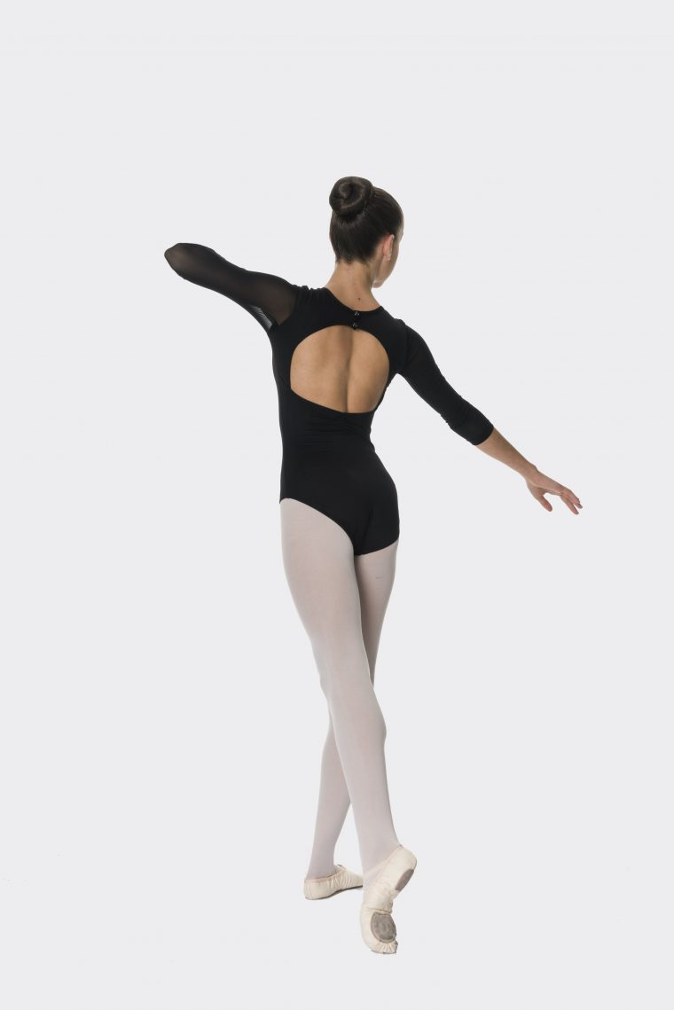 michaela leotard black