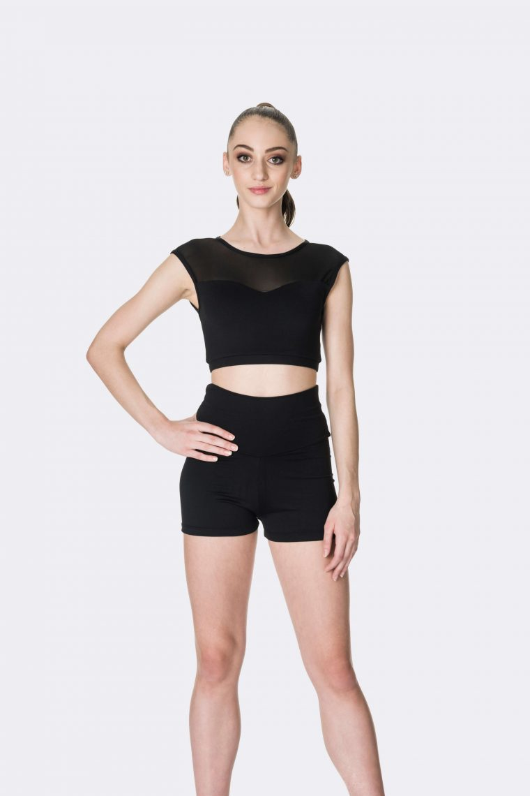 activate crop top black