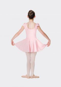 Cap sleeve chiffon dress ballet pink