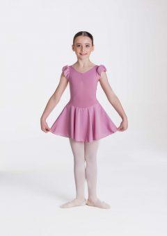 Cap sleeve chiffon dress Dusty pink