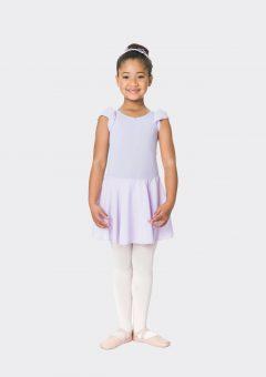 Cap sleeve chiffon dress lilac