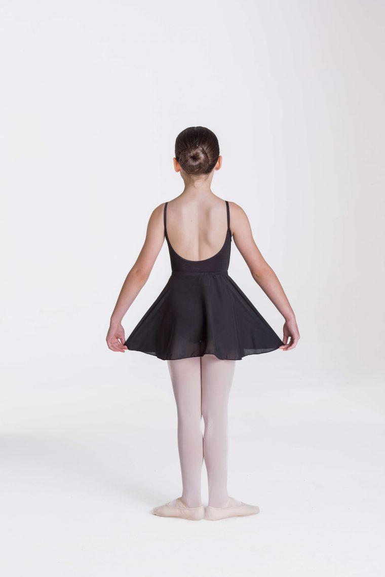 mock wrap skirt black