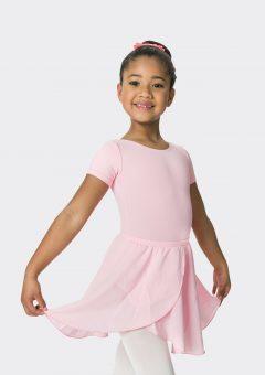 mock wrap skirt ballet pink