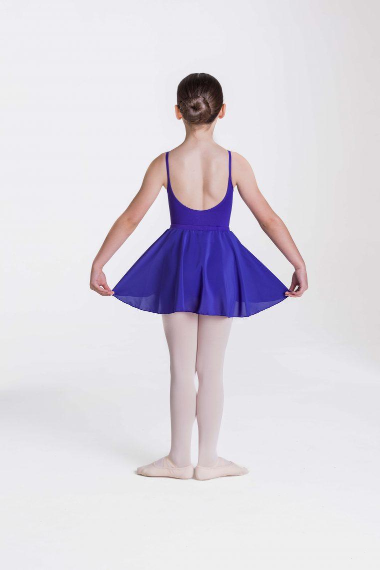 mock wrap skirt dark purple
