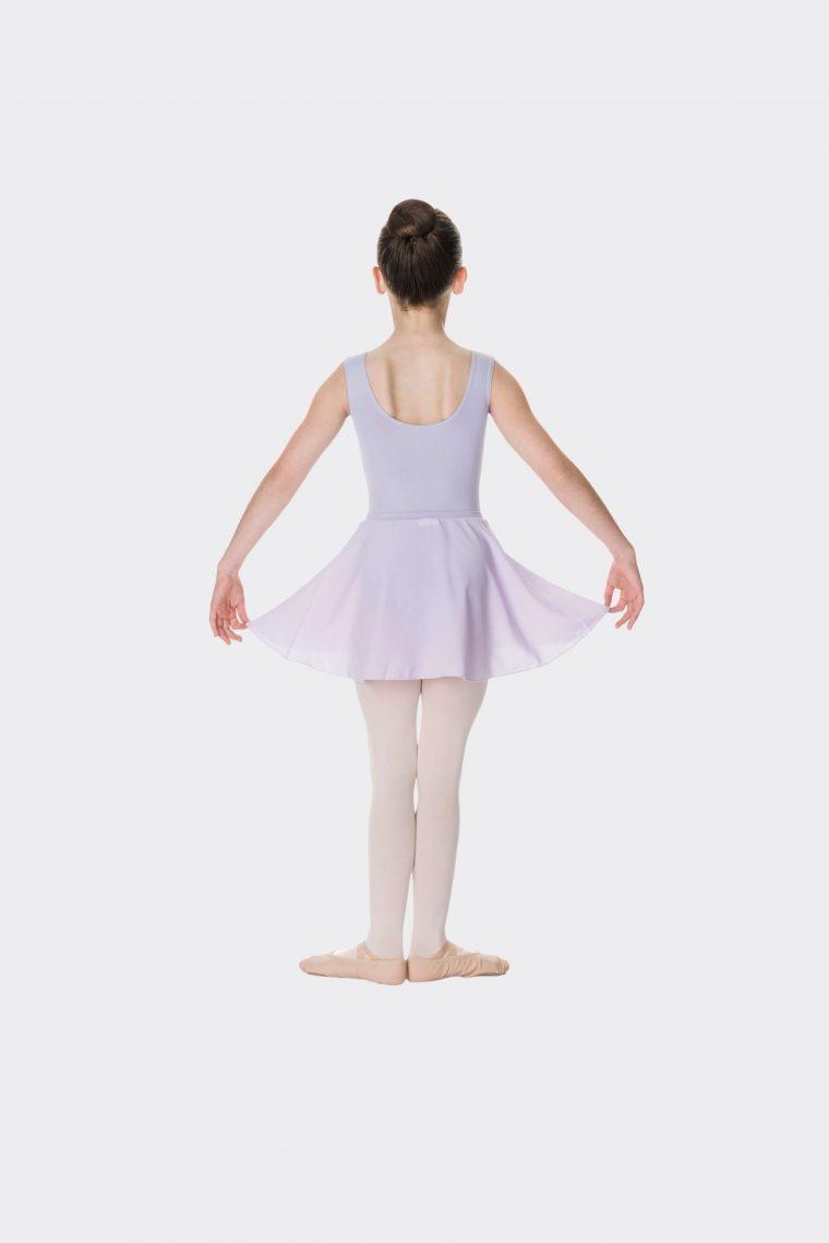 mock wrap skirt lilac