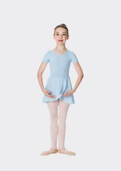mock wrap skirt pale blue