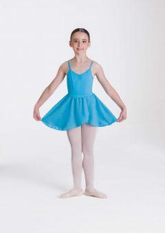 mock wrap skirt turquoise