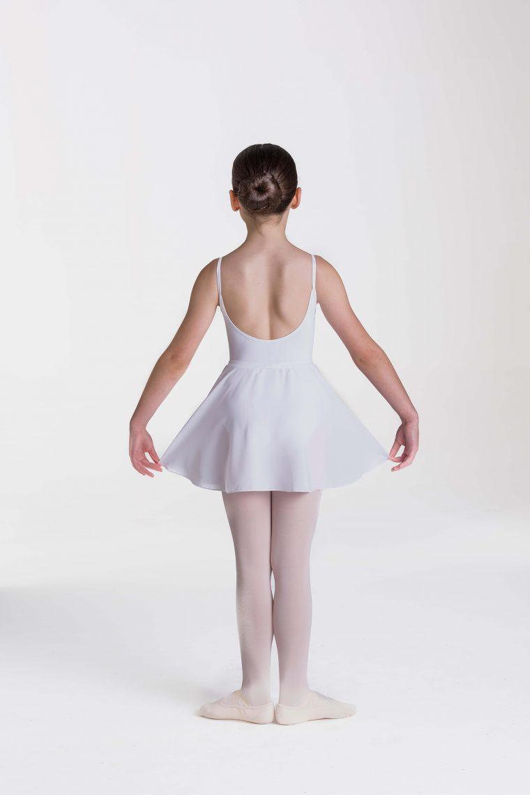 mock wrap skirt white